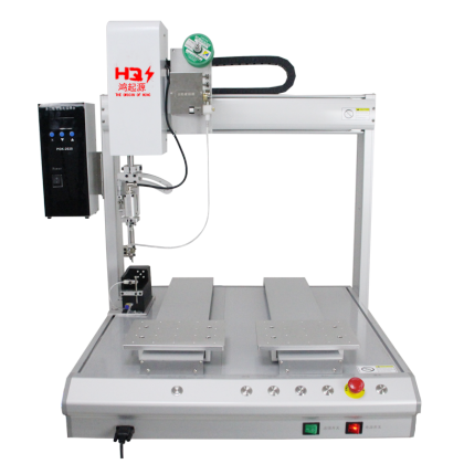 Efficient double-station soldering machine