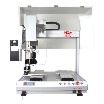 Four-station indexing plate rotary soldering machine