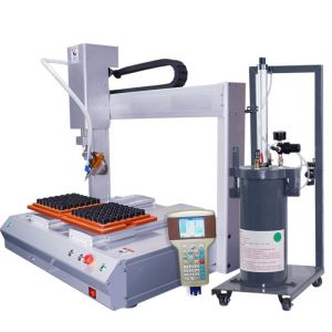 Double-station automatic rotary pneumatic dispenser